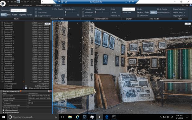 Engazi Photogrammetry interior screenshot
